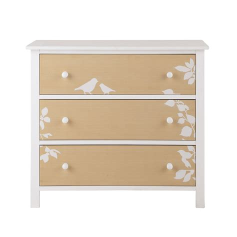 White And Wood Chest Of Drawers by Wooden Child S Chest Of Drawers In White W 85cm Lapinou