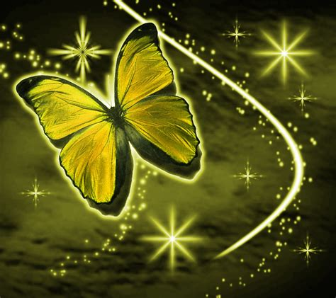 wallpaper gold butterfly golden butterfly with stars background 1800x1600
