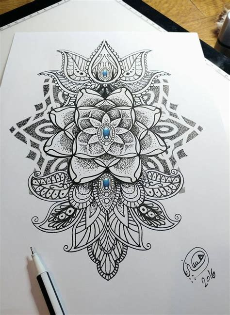 fye tattoos mandala dotwork style mehndi made by hysteria