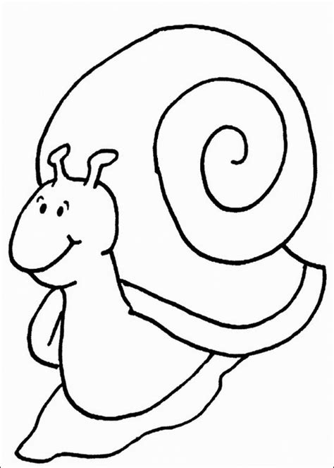 snail printable coloring sheet for kids