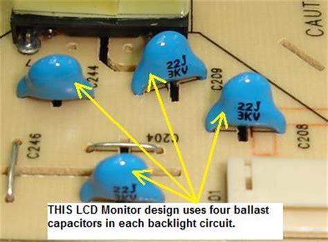ballast capacitor function hpf1723 lcd monitor repair