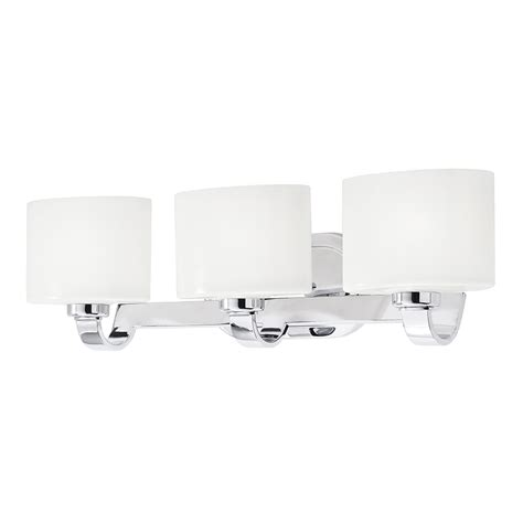 3 Light Bathroom Fixtures Shop Kichler 3 Light 7 2 In Chrome Oval Vanity Light At Lowes