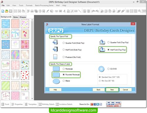 mac id card design software screenshots for designing and birthday card design software screenshots to create