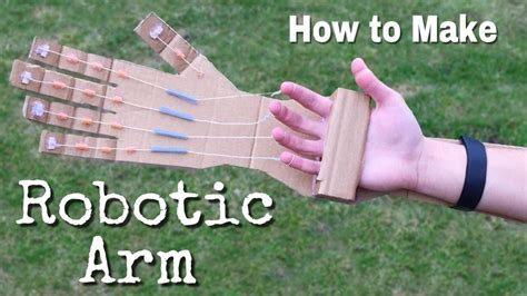 How To Make A Paper Home - how to make a robotic arm at home out of cardboard