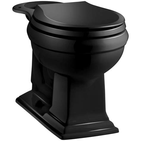 black toilet kohler memoirs comfort height front toilet bowl only