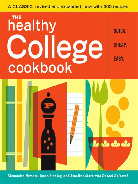 chomp college cookbook for college students books the healthy college cookbook sle pages by