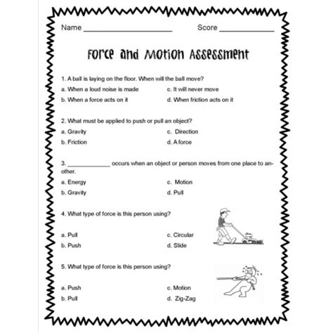 And Motion Worksheets by Fourth Grade Science And Motion Worksheets