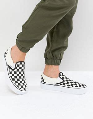 Sepatu Vans Slip On Checkerboard Black Silver Premium Bnib Md In China s shoes shoes sandals sneakers asos