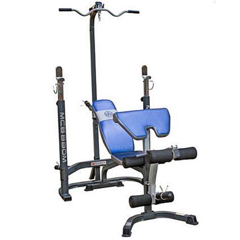 marcy weight bench with lat pulldown buy marcy mcb880m olympic weight bench with squat rack and