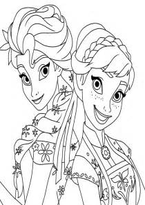 anna elsa frozen coloring pages print
