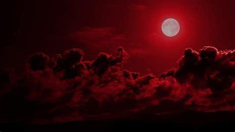 moon red cloudy sky hd dark aesthetic wallpapers hd