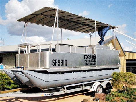 pontoon boats for sale noosa 2009 pontoon aluminium hire boat for sale