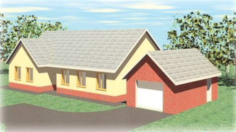 llysdewi 3 bedroom timber frame bungalow with detached garage - Timber Frame Bungalows Costs