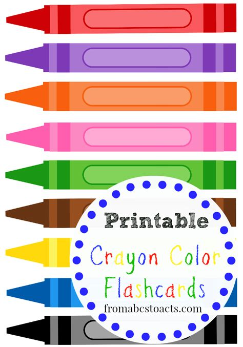 printable flashcards for preschool printable crayon color flashcards color flashcards