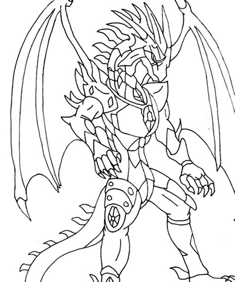 bakugon dragonoid free colouring pages