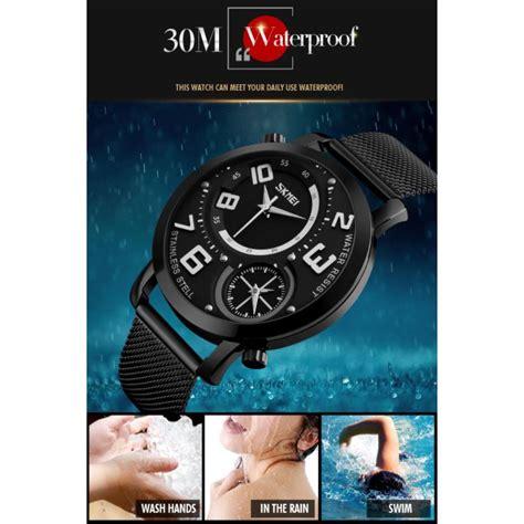 Skmei Jam Tangan Kasual Pria skmei jam tangan kasual pria stainless steel 9168