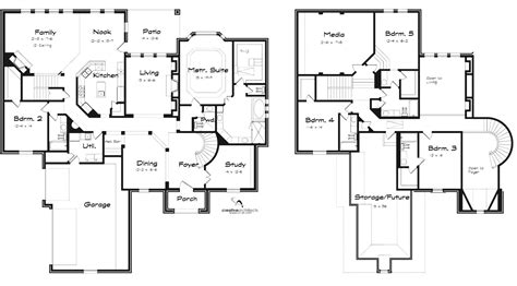 5 bedroom floor plans 2 story 5 bedroom house plans 2 story photos and