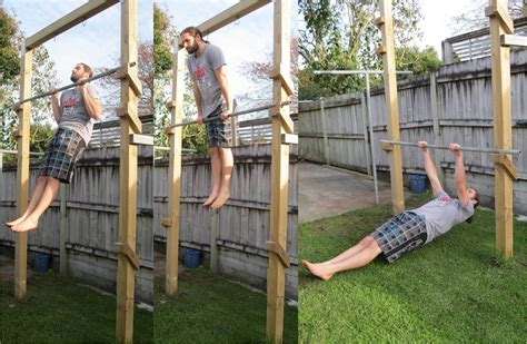 pull up bar in backyard back to primal pull up frame