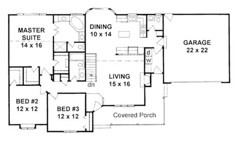 two bedroom ranch house plans ranch style house plan 3 beds 2 50 baths 1586 sq ft plan 58 167