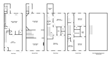brownstone floor plan brownstone row house floor plans