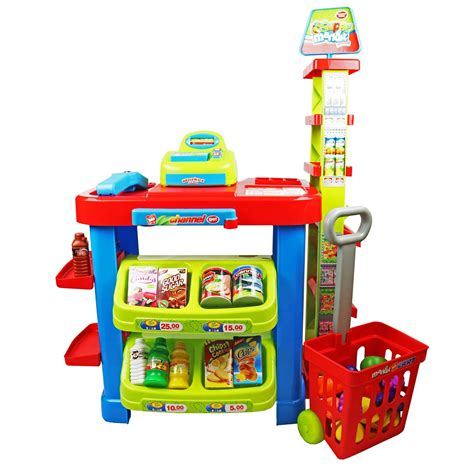 Set By Shop childrens supermarket shop grocery pretend play set 163 24 99 oypla the
