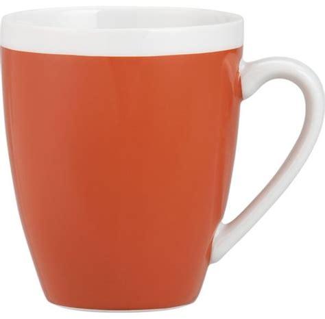 modern mug orange mug modern mugs by crate barrel