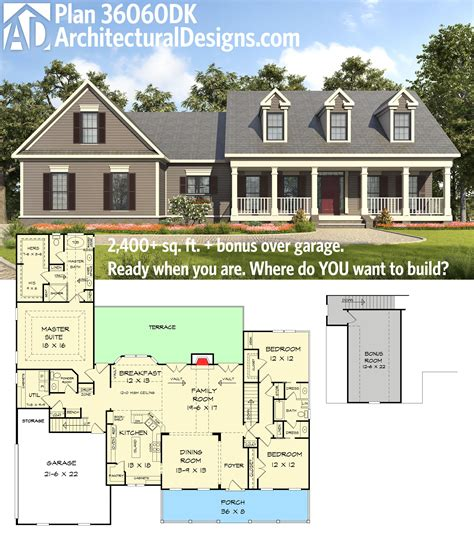 one level living with huge garage in nicholasville ky for plan 36060dk appealing 3 bed country house plan