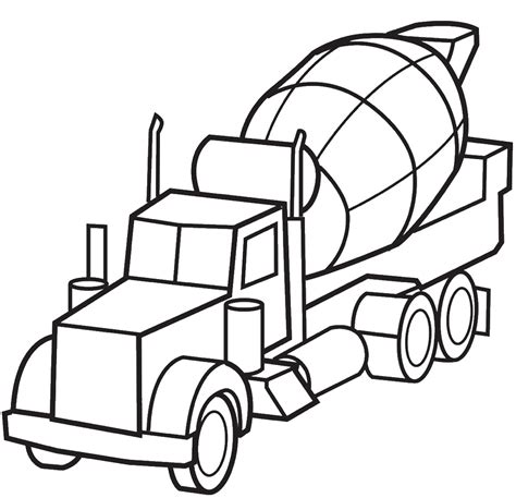 truck coloring pages cement mixer truck coloringstar