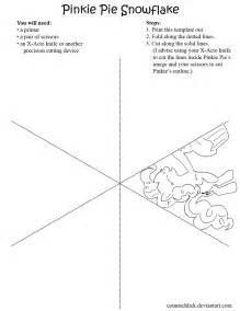 Free Paper Snowflake Templates Pinkie Pie Snowflake Template By Countschlick On Deviantart