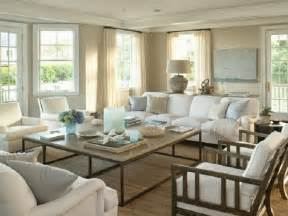 Coastal Livingroom Chic Coastal Living Hamptons Style Design Beach Houses