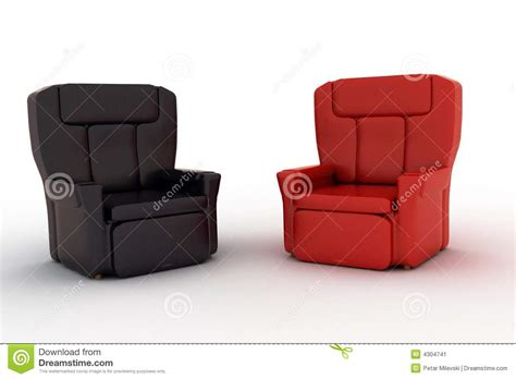 two armchairs two armchairs stock image image 4304741