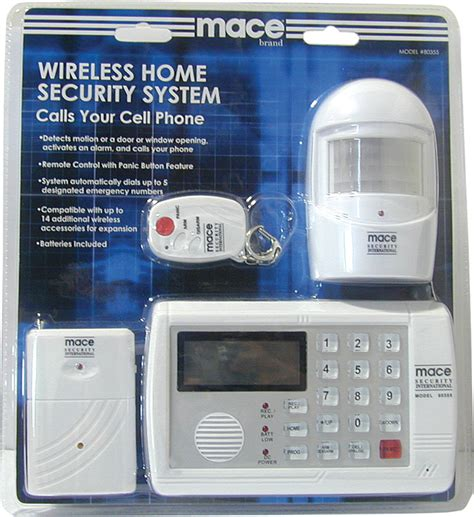 mace wireless home security system self defense msi80355