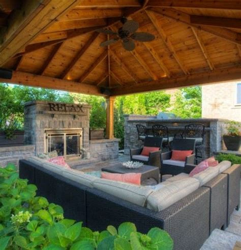 patio canopy ideas backyard gazebo with fireplace garden yard pergolas