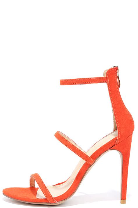 orange dress sandals orange heels dress sandals high heel sandals 32 00