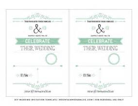 Free Downloadable Invitation Templates by Free Wedding Invitation Templates Wedding