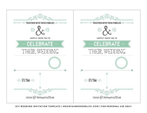 Free Printable Invitation Templates No Download | free wedding invitation templates download wedding