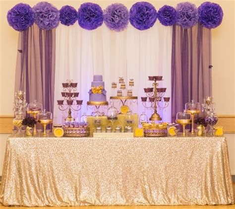purple and gold table decorations 25 best ideas about gold dessert on gold