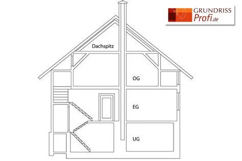 haus schnitt zeichnen grundrissprofi angebot schnitte immobilien