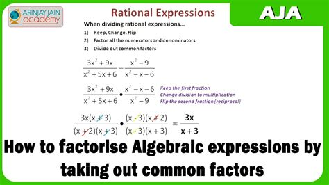 Factor The Common Factor Out Of Each Expression Worksheet by How To Factorise Algebraic Expressions By Taking Out