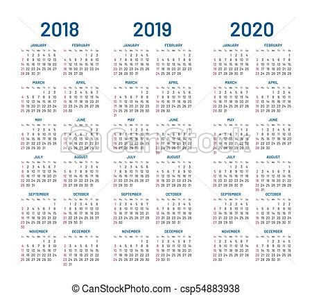 year    calendar design template compound planner  blue letters  numbers