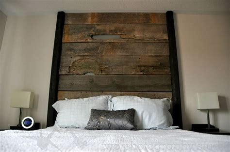 barnboard headboard barn board headboard the batchelor pad pinterest