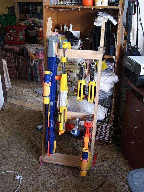 How To Build A Nerf Gun Rack by Nerf Gun Rack By Arakaraath Via Flickr Diy Crafts