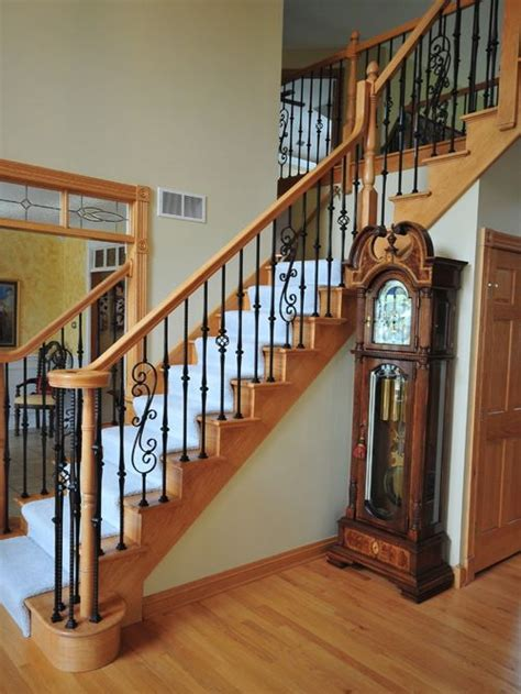 Banister Styles Wrought Iron Stairs Home Design Ideas Pictures Remodel