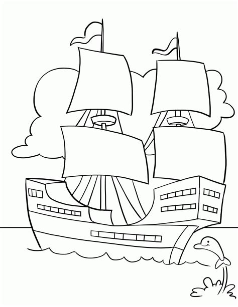 Mayflower Coloring Pages Coloring Home Mayflower Coloring Page
