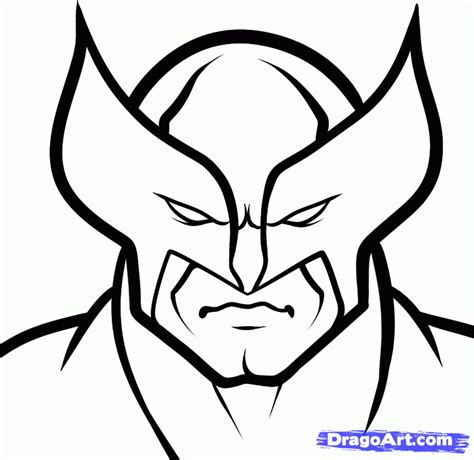easy superhero coloring page how to draw wolverine easy step by step marvel