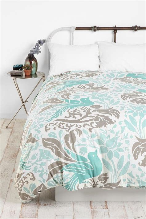 bedding like urban outfitters urban outfitters flourish bird bl gr duvet cover bedding