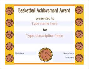 free basketball templates 8 basketball certificate templates free