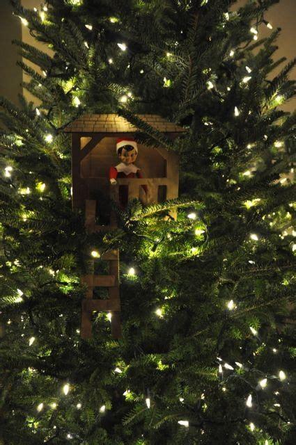 elf house on a tree elf on the shelf elf built a tree house christmas