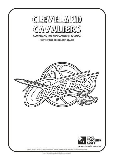 coloring pages nba basketball cool coloring pages nba teams logos cleveland