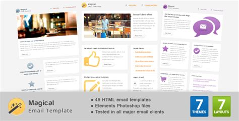 Magical Email Template By Gifky Themeforest Envato Email Templates